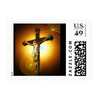 Jesus on the Cross Religious Postage Stamps