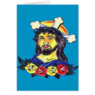 Jesus on the Cross Tattoo art Card