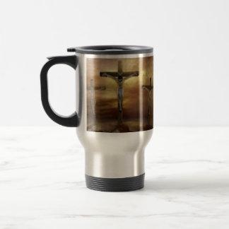 JESUS ON THE CROSS TRAVEL MUG