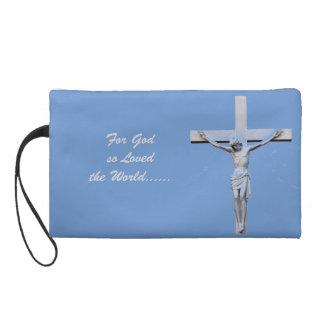 Jesus on the Cross Wristlet Purse