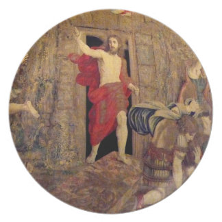 Jesus on the Resurrection Tapestry Plate