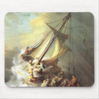 Jesus on the Sea of Galilee, Israel Mouse Pad