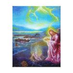 JESUS ON THE SEASHORE ,St John 21 Canvas Print