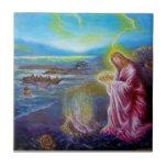 JESUS ON THE SEASHORE ,St John 21 Ceramic Tile
