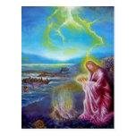 JESUS ON THE SEASHORE ,St John 21 Postcard