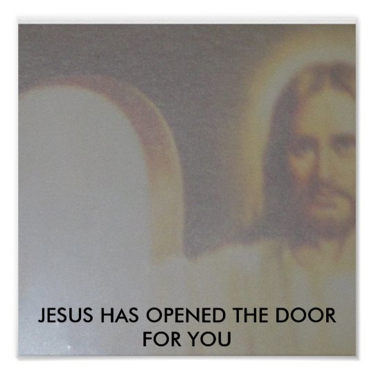 JESUS-OPEN DOOR POSTER
