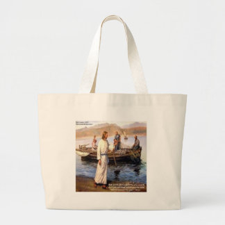 Jesus & Opening Doors Quote Large Tote Bag
