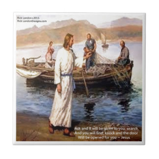 Jesus & Opening Doors Quote Small Square Tile