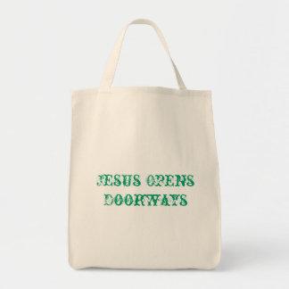 Jesus Opens Doorways Tote Bag
