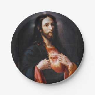 Jesus Opens His Heart to Us Paper Plate