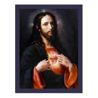 Jesus Opens His Heart to Us Postcard