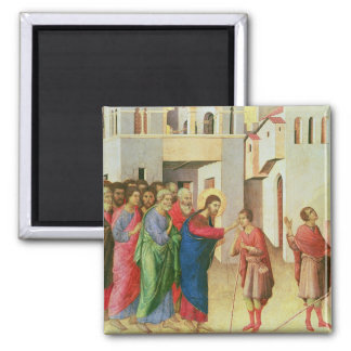 Jesus Opens the Eyes of a Man Born Blind, 1311 2 Inch Square Magnet