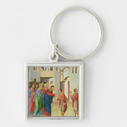 Jesus Opens the Eyes of a Man Born Blind, 1311 Keychain