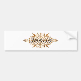 Jesus Ornement2 Cuivre noir. Bumper Sticker