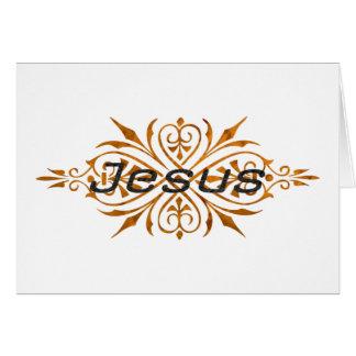 Jesus Ornement2 Cuivre noir. Card