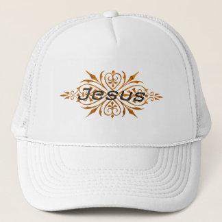 Jesus Ornement2 Cuivre noir. Trucker Hat
