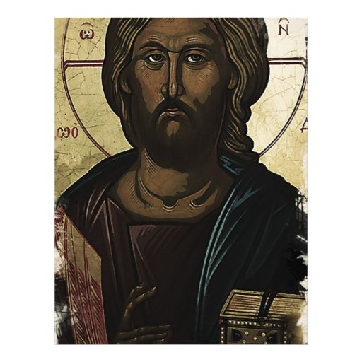 Jesús ortodoxo del este membrete a diseño