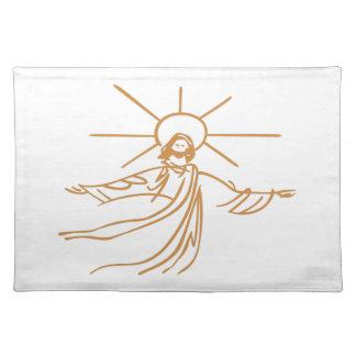 Jesus Outline Cloth Place Mat