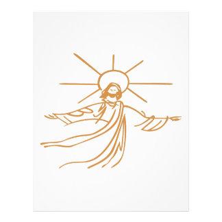 Jesus Outline Letterhead