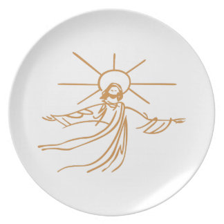 Jesus Outline Party Plate
