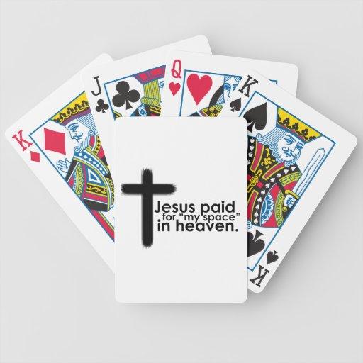 Jesús pagó mi espacio en cielo barajas