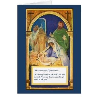 Jesus Paternity Test Christmas Card