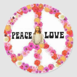 Jesus Peace And Love Sticker 2009