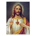 Jesus Peace Sign Greeting Card