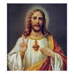 Jesus Peace Sign Poster