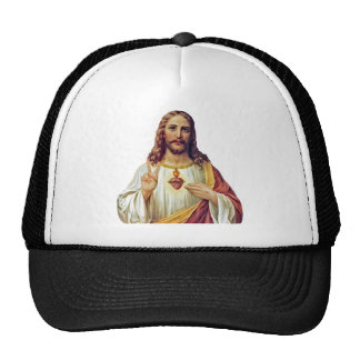 Jesus Peace Sign Sacred Heart Trucker Hat