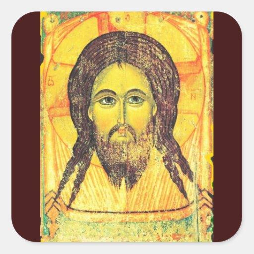 Jesús Pegatina Cuadrada
