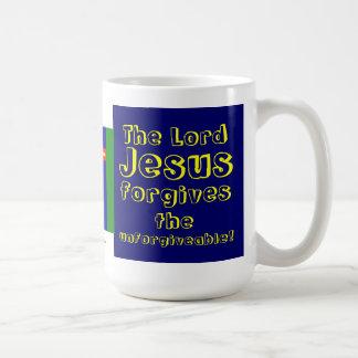 """Jesús perdona el imperdonable "" Taza"
