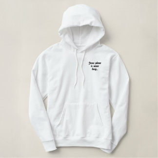 Jesus phone is never busy embroidered hoodie