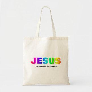Jesus Pieces  Tote Bag