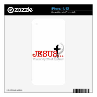 Jesus.png Decal For iPhone 4
