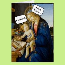 Jesus Pooped Card