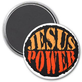Jesus Power 3 Inch Round Magnet