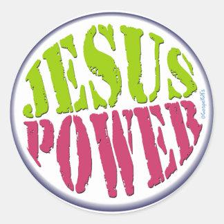 Jesus Power Classic Round Sticker