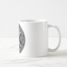 Jesus Prayer with Chi-ro black and white in circle Coffee Mug