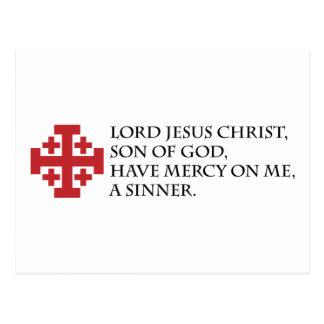 Jesus Prayer with Jerusalem Cross Postcard