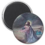 Jesus Praying at Gethsemane 2 Inch Round Magnet