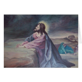 Jesus Praying at Gethsemane Card