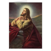 Jesus Praying Card