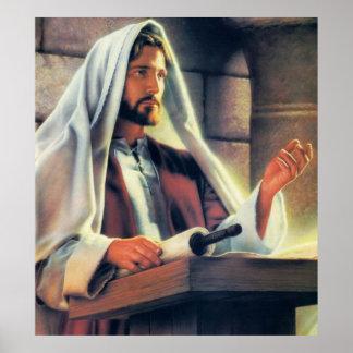 Jesus Preaching Posters