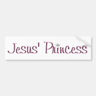 Jesús Princesa-rosado Pegatina Para Auto