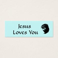 Jesus Profile Card at Zazzle
