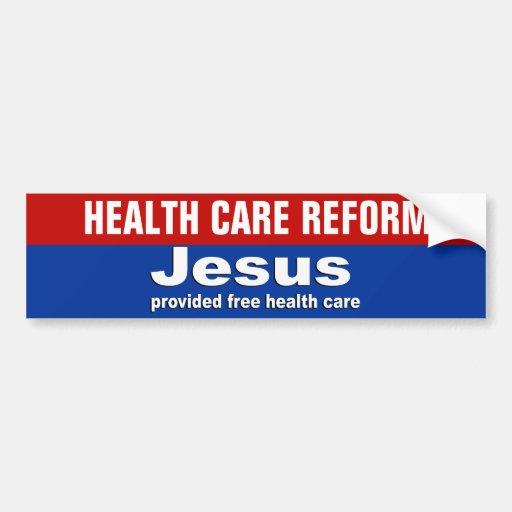 Jesús proporcionó atención sanitaria libre pegatina para auto