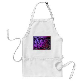 Jesus purple neon Christian gift design Adult Apron