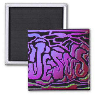 Jesus purple neon Christian gift design Magnet