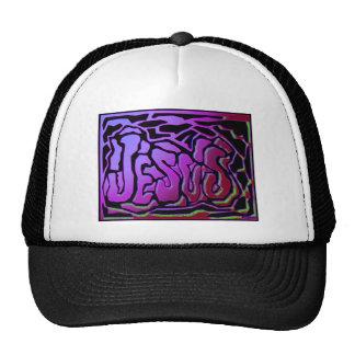Jesus purple neon Christian gift design Mesh Hats
